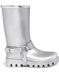 Dolce & Gabbana Harness Strap Metallic Pvc Rainboots