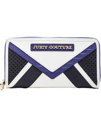 Juicy Couture - Sierra Colorblock Zip Continental Wallet in Lavender - Lyst