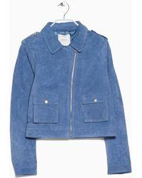 Mango Blue Peccary Jacket - Lyst