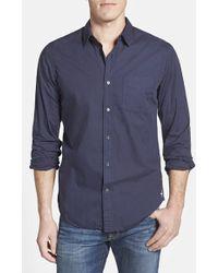 Relwen Regular Fit Cotton Poplin Sport Shirt - Lyst