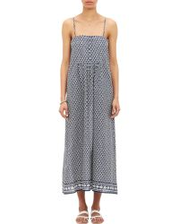 Barneys New York Fan-Print Dress - Lyst