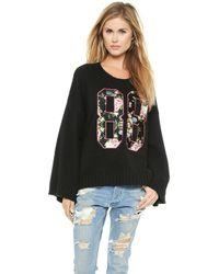 Wildfox Black 88 Sweater - Lyst