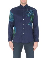 Ralph Lauren Slim-fit Dragon-print Cotton Shirt - For Men - Lyst