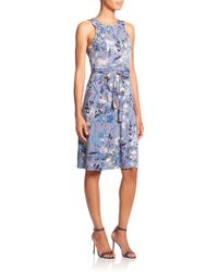 BCBGMAXAZRIA Daniella Floral-Print Dress blue - Lyst