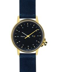 Miansai | M12 Gold and Navy Leather Watch | Lyst