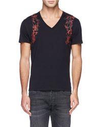 Alexander McQueen Marble Harness Print T-Shirt - Lyst