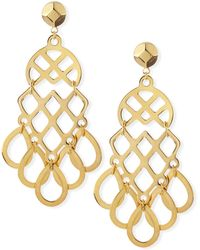 Tory Burch 16k Gold-plated Lace Earrings - Lyst