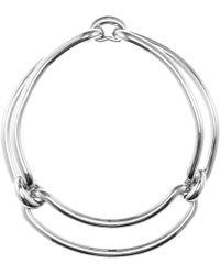 Balenciaga Silver Silver-toned Necklace - Lyst