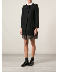 RED Valentino Bow Detail Overcoat - Lyst