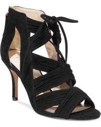 Nine West Black Galaxy Sandals - Lyst
