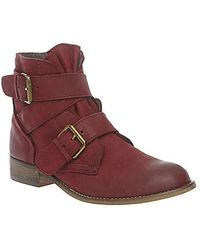 Steve Madden Teritory Leather Booties - Lyst