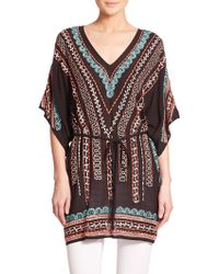 Nanette Lepore Embroidered Caftan multicolor - Lyst