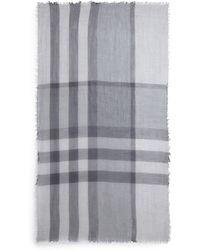 Burberry Mega Check Wool Scarf - Lyst