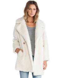 Essentiel - Haxara Maxi Faux Fur Coat - Lyst