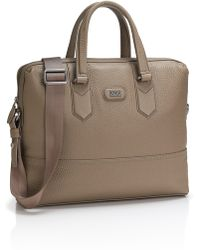 Hugo Boss Magnusy | Grained Leather Workbag - Lyst