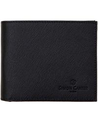 Simon Carter - Black Saffiano Leather Wallet - Lyst