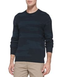 Theory Asli Camo-print Sweater - Lyst