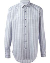 Lanvin Checked Pattern Shirt - Lyst