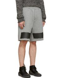 Kris Van Assche - Ssense Exclusive Grey Neoprene Shorts - Lyst