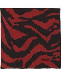 Tom Ford Zebra-Print Silk Pocket Square - Lyst