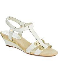 Anne Klein Narelle T-Strap Sandals white - Lyst