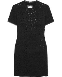 Emilio Pucci Embellished Cutout Wool And Silk-Blend Dress - Lyst