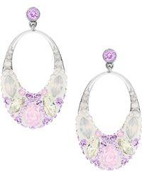 Swarovski Vividness Multi-Color Stone Hoop Earrings - Lyst