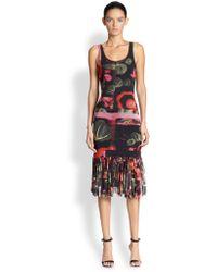 Jean Paul Gaultier Printed Fringe-trim Dress - Lyst