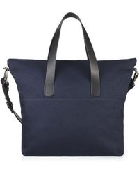 Whistles Canvas And Leather Tote Bag - Lyst