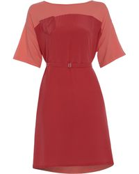 Outsider - Peach T-shirt Dress With Pocket - Lyst