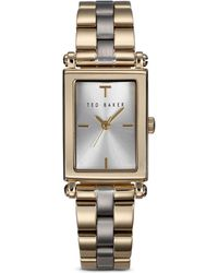Ted Baker Two Tone Bliss Rectangle Watch 20mm - Lyst