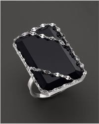 Lana Jewelry - 14k White Gold Noir Ring With Black Onyx - Lyst