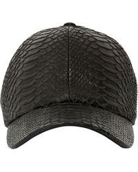 Neil Barrett - Python Embossed Leather Baseball Hat - Lyst