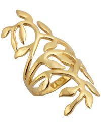 Soixante Neuf - Gold Cutout Leaf Ring - Lyst