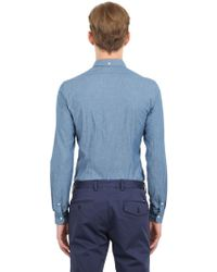 Façonnable Slim Fit Stretch Cotton Oxford Shirt - Blue