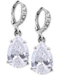 Givenchy Crystal Teardrop Earrings silver - Lyst