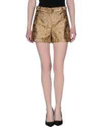 Moncler Shorts gold - Lyst