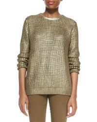 MICHAEL Michael Kors Metallic Knit Sweater - Lyst
