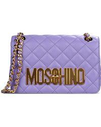 Moschino Medium Leather Bag - Lyst