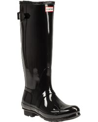 Hunter | Original Back Glossy Rubber Rain Boots | Lyst