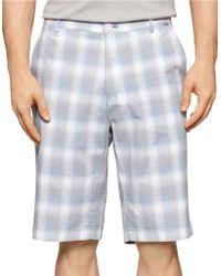 Calvin Klein Plaid Shorts blue - Lyst
