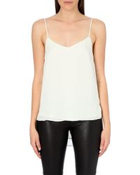 Theory Vaneese Silk Camisole - For Women - White
