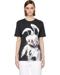 McQ by Alexander McQueen Black Angry Bunny Boyfriend T_shirt - Lyst