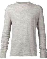Naked & Famous Crew-Neck Cotton Jumper - Grey
