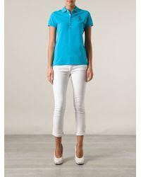 Ralph Lauren Blue Polo T-shirt - Lyst