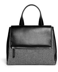 Givenchy Pandora Pure Medium Wool Leather Flap Bag - Lyst