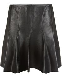 McQ by Alexander McQueen Leather Panelled Volume Skirt - Lyst