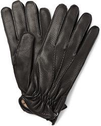 Want Les Essentiels De La Vie - Chopin Cashmere-lined Leather Gloves - Lyst