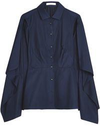 Palmer//harding Cotton Shoulder Slit Shirt - Lyst