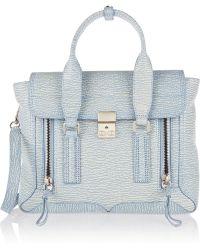 3.1 Phillip Lim The Pashli Medium Textured-leather Trapeze Bag - Lyst